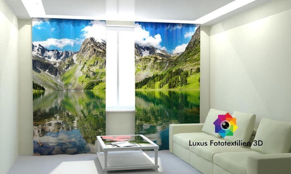Fotogardine 3D  - gardinen und vorhänge für wohnzimmer