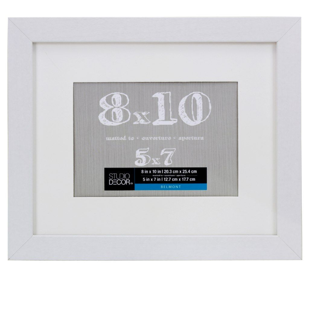 White Belmont Frame With Mat By Studio Decor Decor Frame School Signs