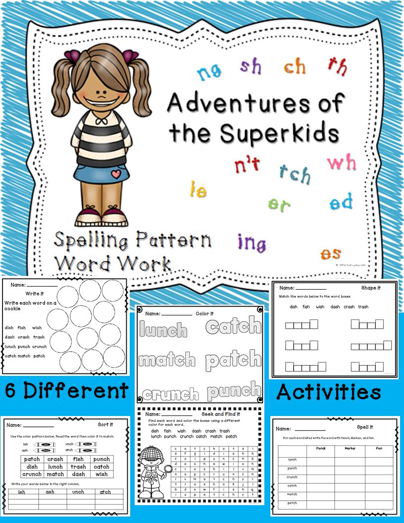 Spelling Pattern Word Work activities | Spelling words, Word study ...