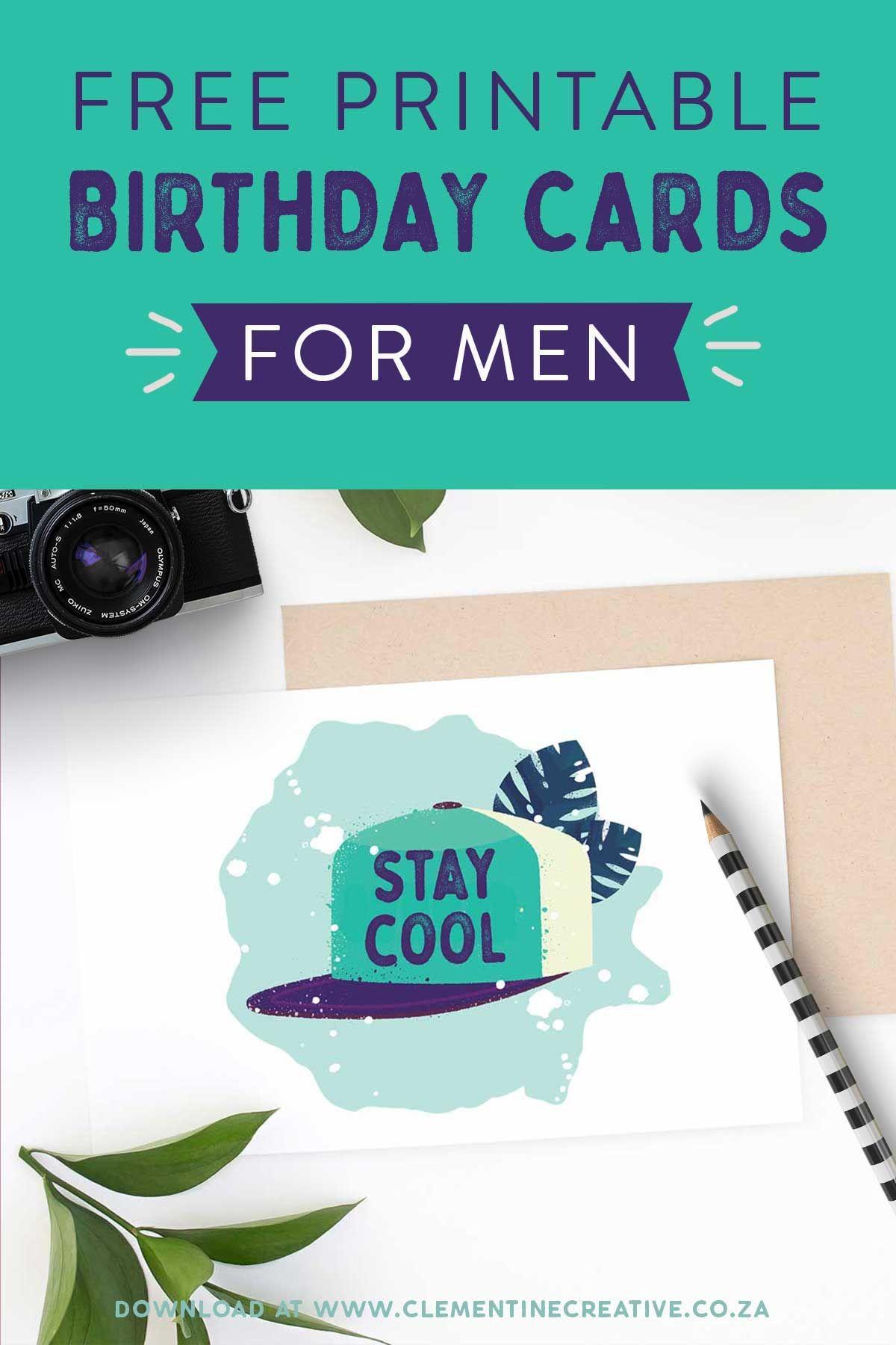 photo relating to Free Printable Birthday Cards for Him named Absolutely free Printable Birthday Playing cards for Him Printables The