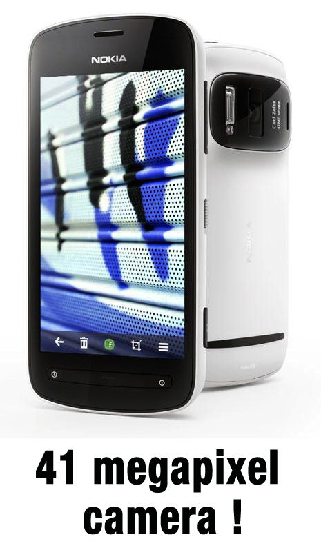 new Nokia 808 smartphone with 41 Megapixel camera