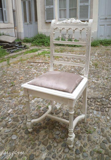 Chaise Trouvee En Ruine Dans Un Vide Grenier Repeinte En