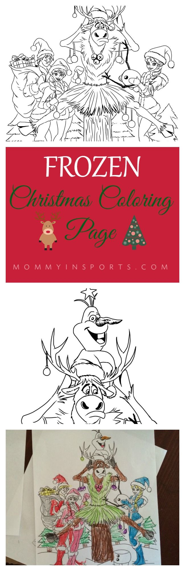 Frozen Christmas Coloring Page | Frozen christmas, Merry and ...