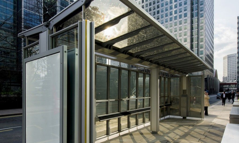 UK's first solarpowered glazed bus shelter generates