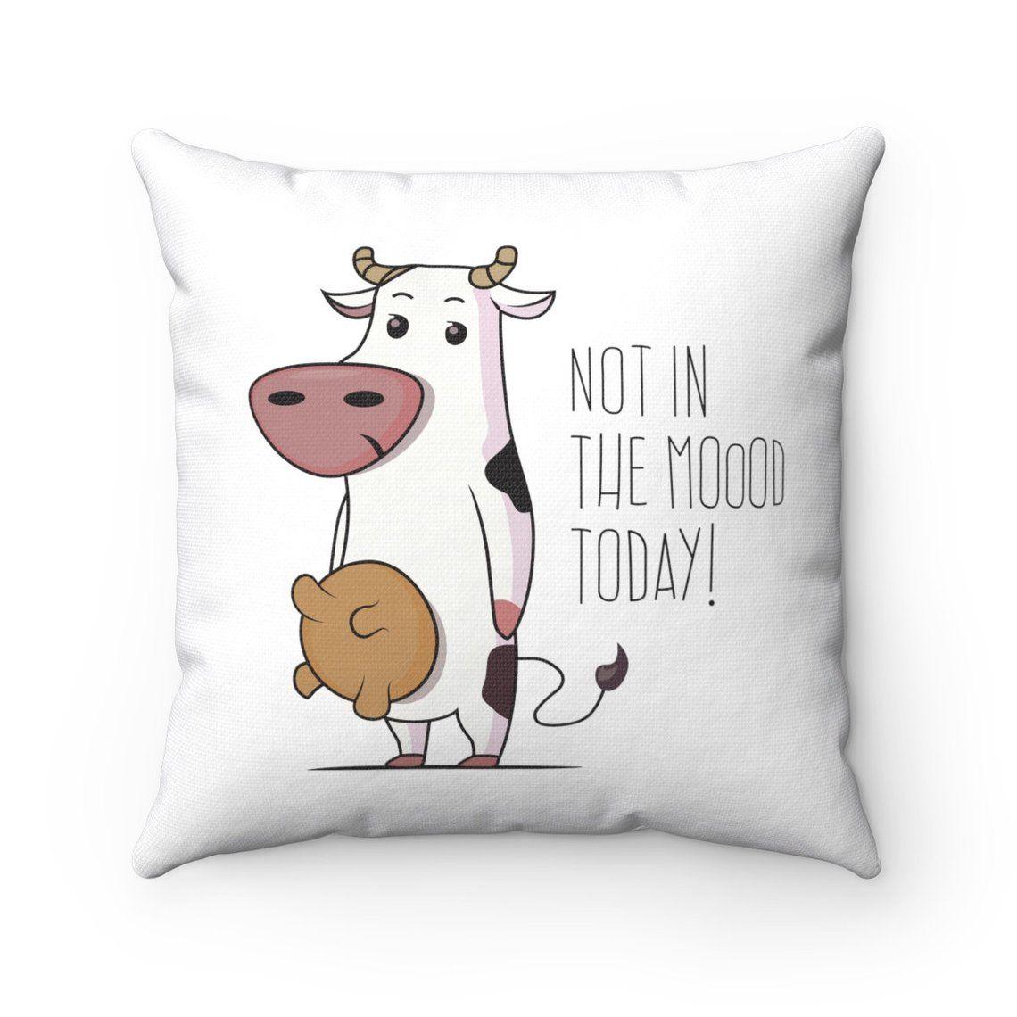cute cow throw pillow cover sofa pillow