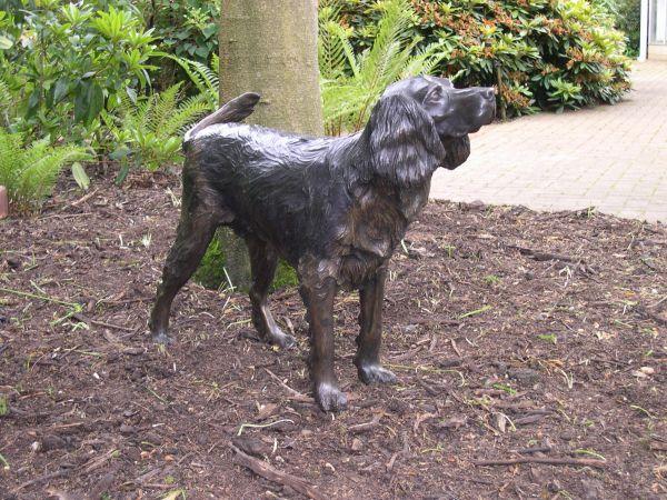 Bronze Resin Dog Sculpture By Artist Nicholas Collins Led