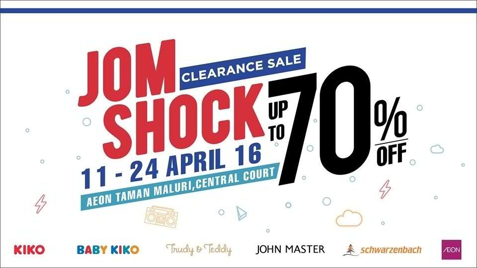 d6fa0cdb1262 11-24 Apr 2016  KIKO Jom Shock Clearance Sale