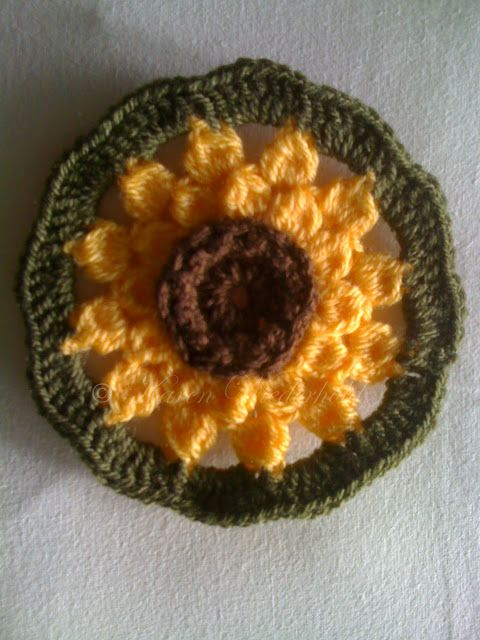 Karen Wiederhold: Free Crochet Pattern: Sunflower Motif | Crochet ...