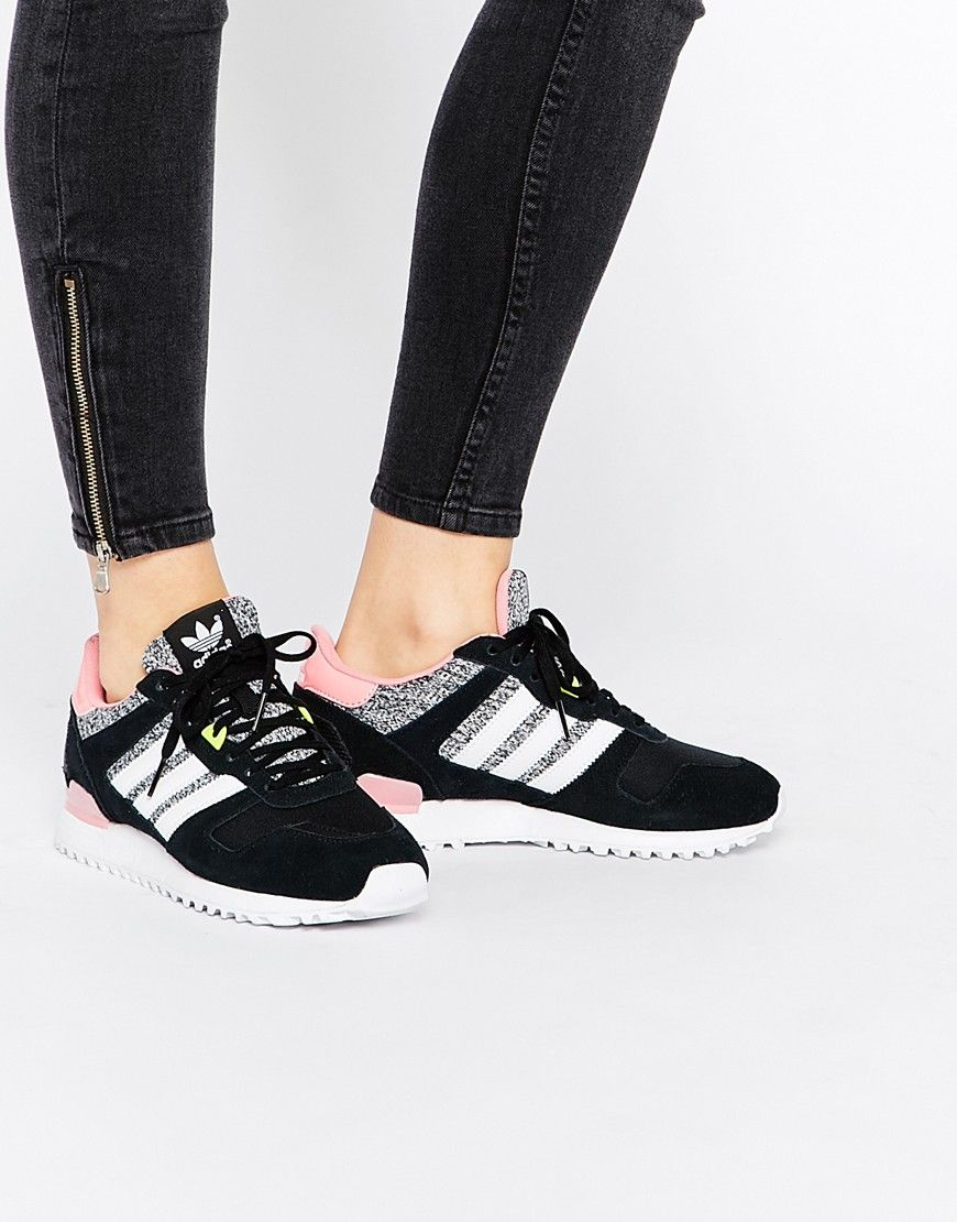 Image 1 - Adidas Originals - ZX - Baskets - Gris et rose