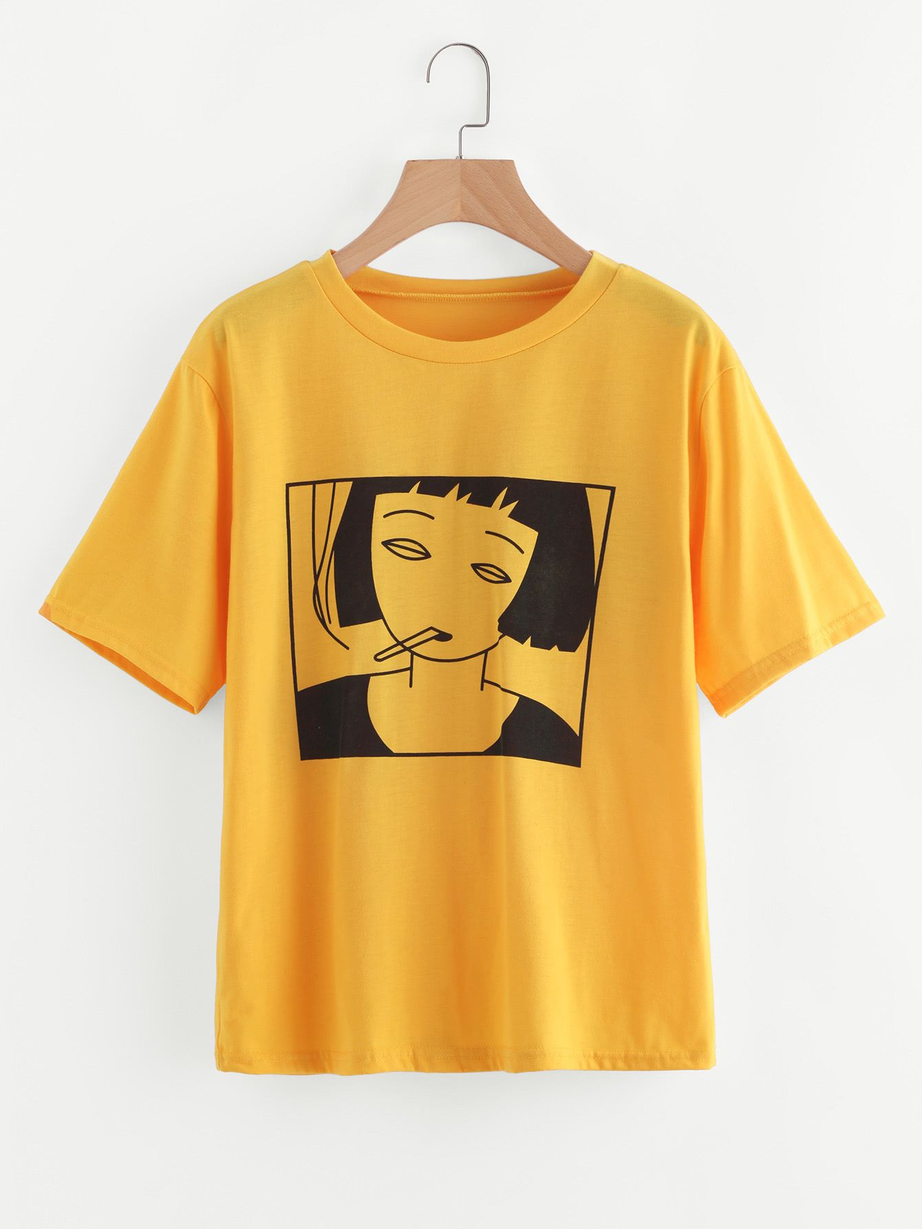 2278b6a53 Shop Girl Print Tee online. SheIn offers Girl Print Tee & more to fit
