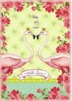 ....ein richtig romatisches Motiv...irgendwie erinnern mich die Flamingos an Florida....  #Postkarten von #Grätz #postcrossing #Schreibwaren #Papeterie #Nürnberg