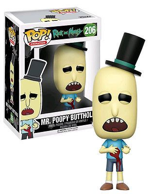 Funko POP! Rick And Morty #206 Mr Poopy Butthole (Bloody/Wounded