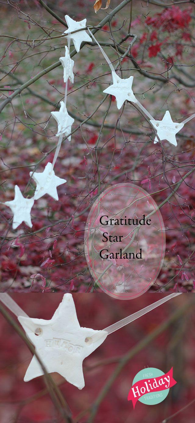 New Thanksgiving tradition:  Fresh Holiday Traditions: Gratitude StarGarland