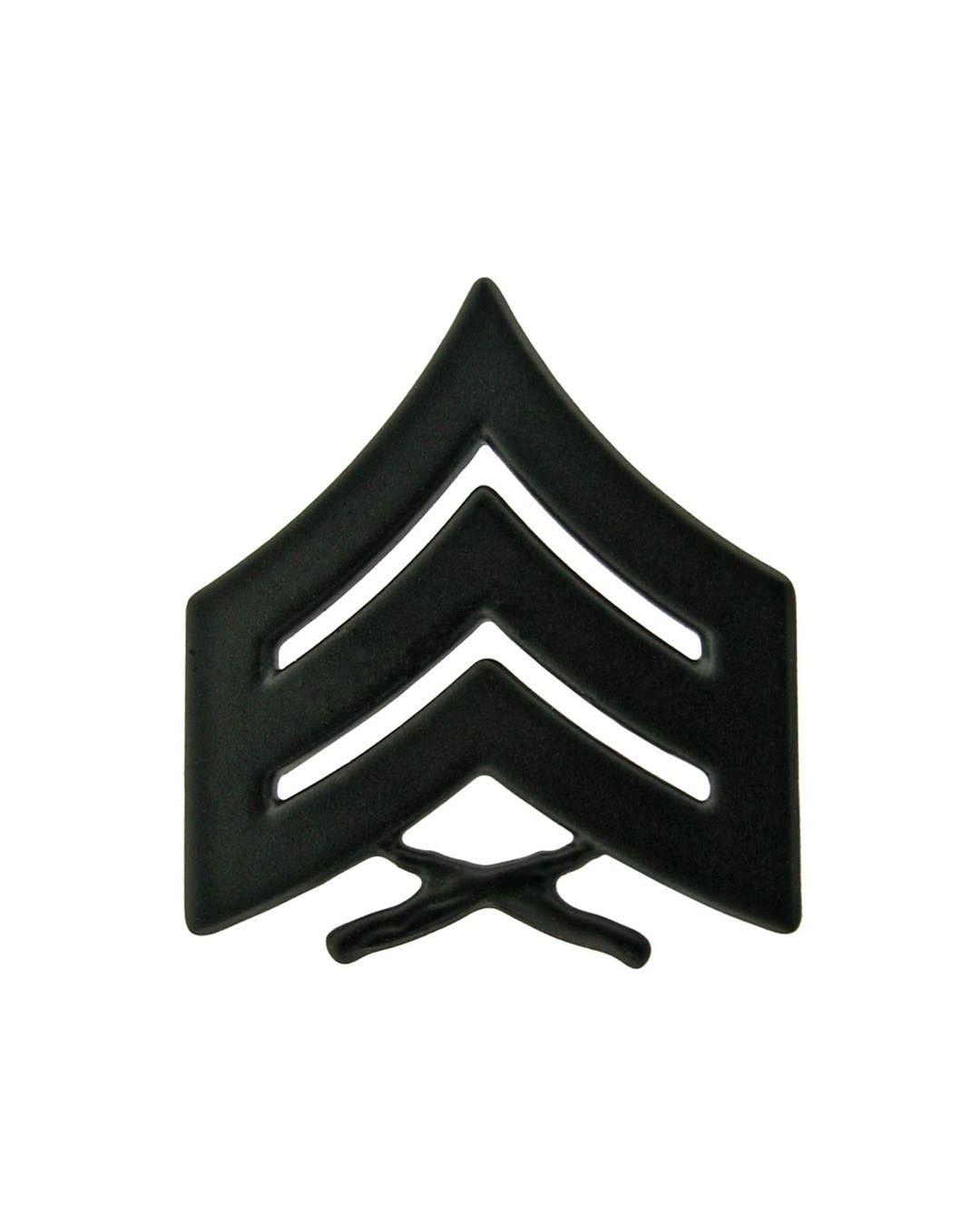 Sergeant Marine Corps Chevron Sta Black Item 1 M Sb