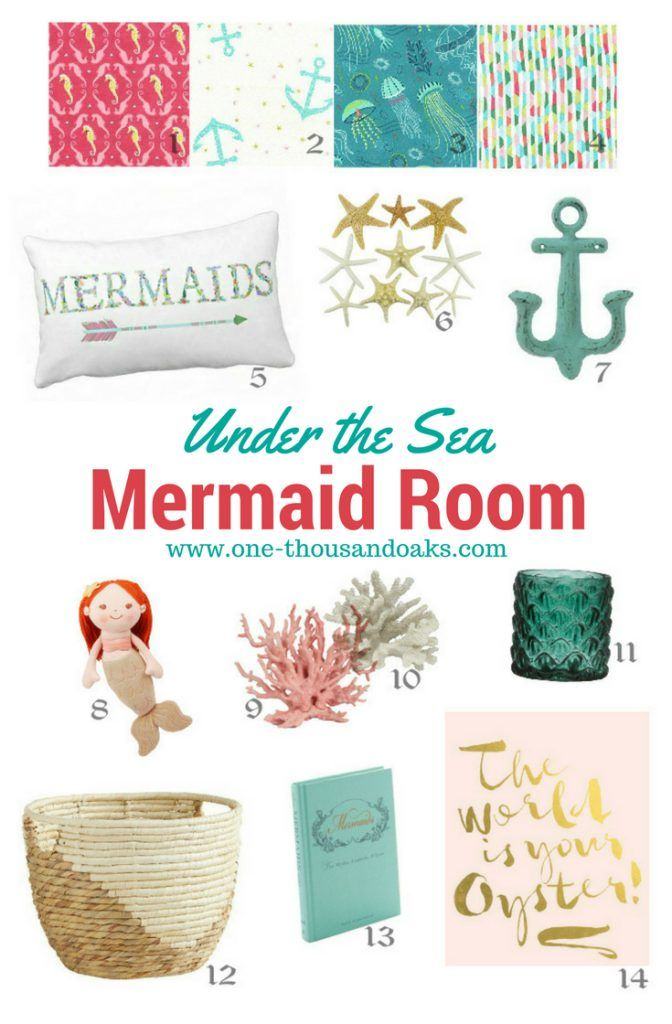 Under the Sea Mermaid Bedroom Inspiration - One Thousand Oaks
