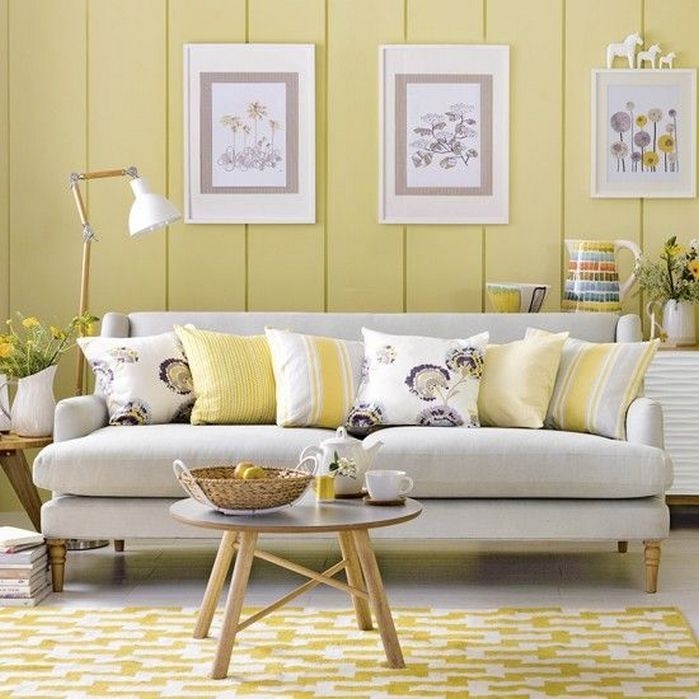 50+ Spring Color Home Decor Living Rooms_36