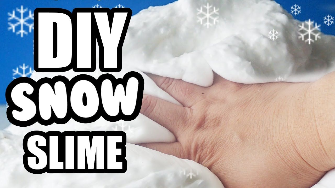 Worlds best snow slime diy how to make slime non sticky with how to make slime non sticky with snowflake ccuart Image collections