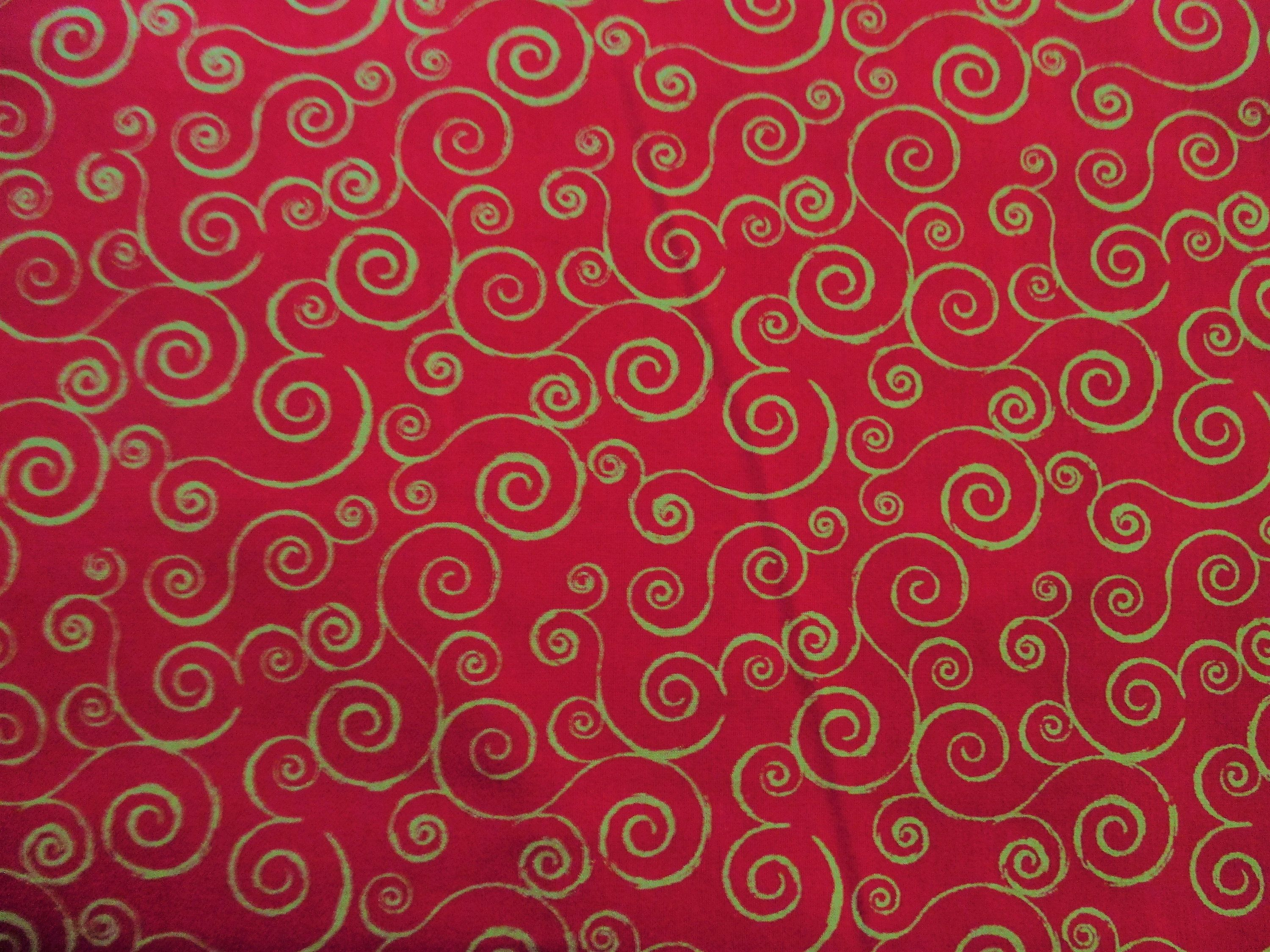 Keepsake Calico Fabric Red Brush Stroke Textire 100/% Cotton
