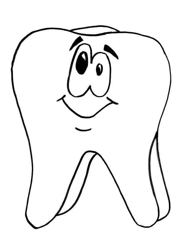 Ausmalbilder Zahn Bastelvorlage Zahn Gute gewohnheiten