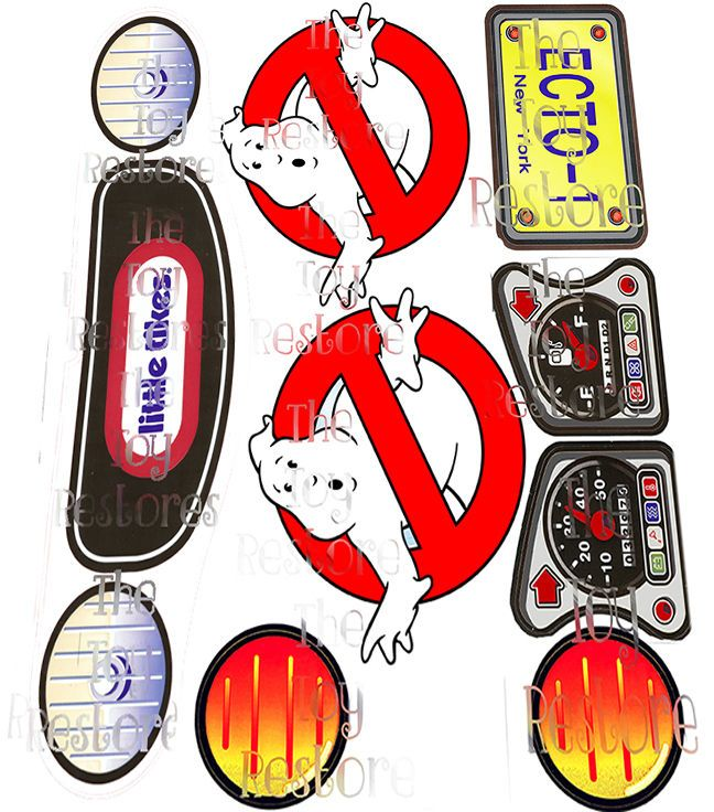 New replacement decals stickers for vtg little tikes cozy coupe car ghostbusters choice of models vintage 80s 90s version and the 30th anniversary