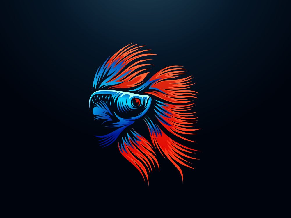 Betta Fish Logo Concept In 2020 Fish Logo Betta Fish Betta