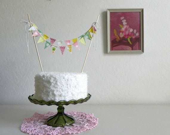 Love The Mini Pennant Banner Sweet Cake Topper