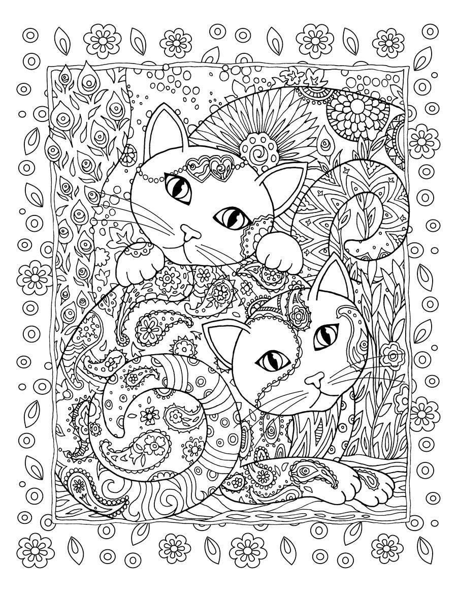 Art Studio Secrets on | Mandalas, Gato y Colorear