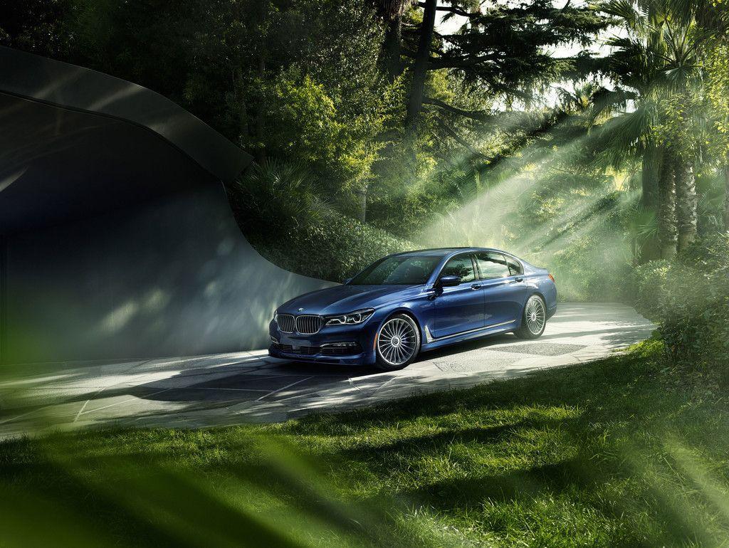 Bmw 7 Series Luxury Car Blue Car Garden 4k Wallpaper With