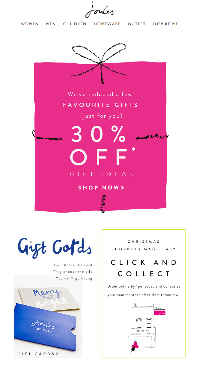 Joules 30 Off Gift Ideas Newsletter Favorite Things Gift Newsletter Website Gifts