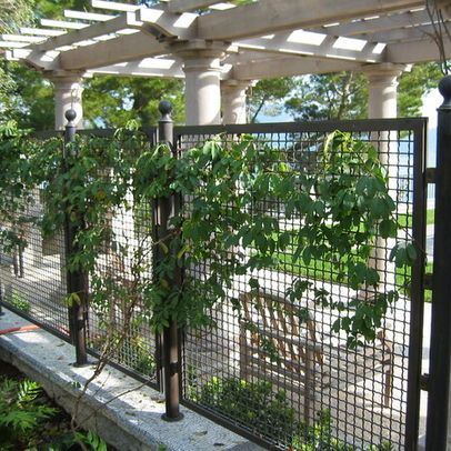 Metal Fence Design Ideas Pictures Remodel And Decor Page 14 Fence Landscaping Fence Design Metal Fence