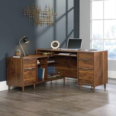 George Oliver West Town L-Shape Executive Desk #ad #desk #homedecor