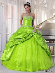 9df2f9fa95 Ball Gown Strapless Low Price Quinceaneras Dress in Spring Green ...