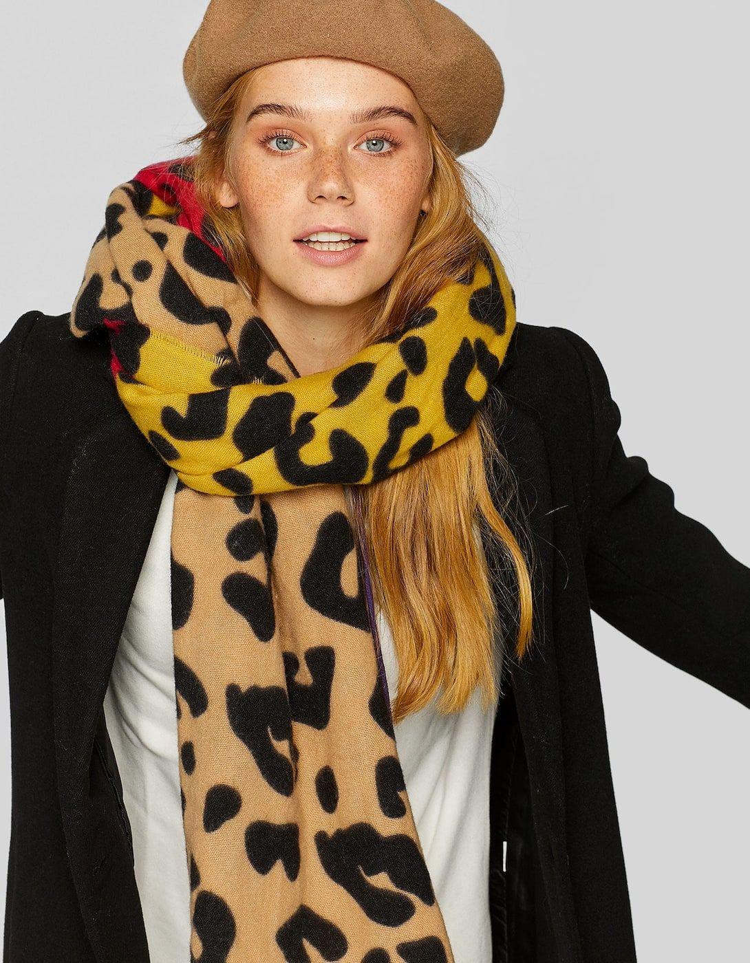 nueva estilos c63c6 e9001 Bufanda leopardo fantasía - Bufandas y pañuelos de mujer ...