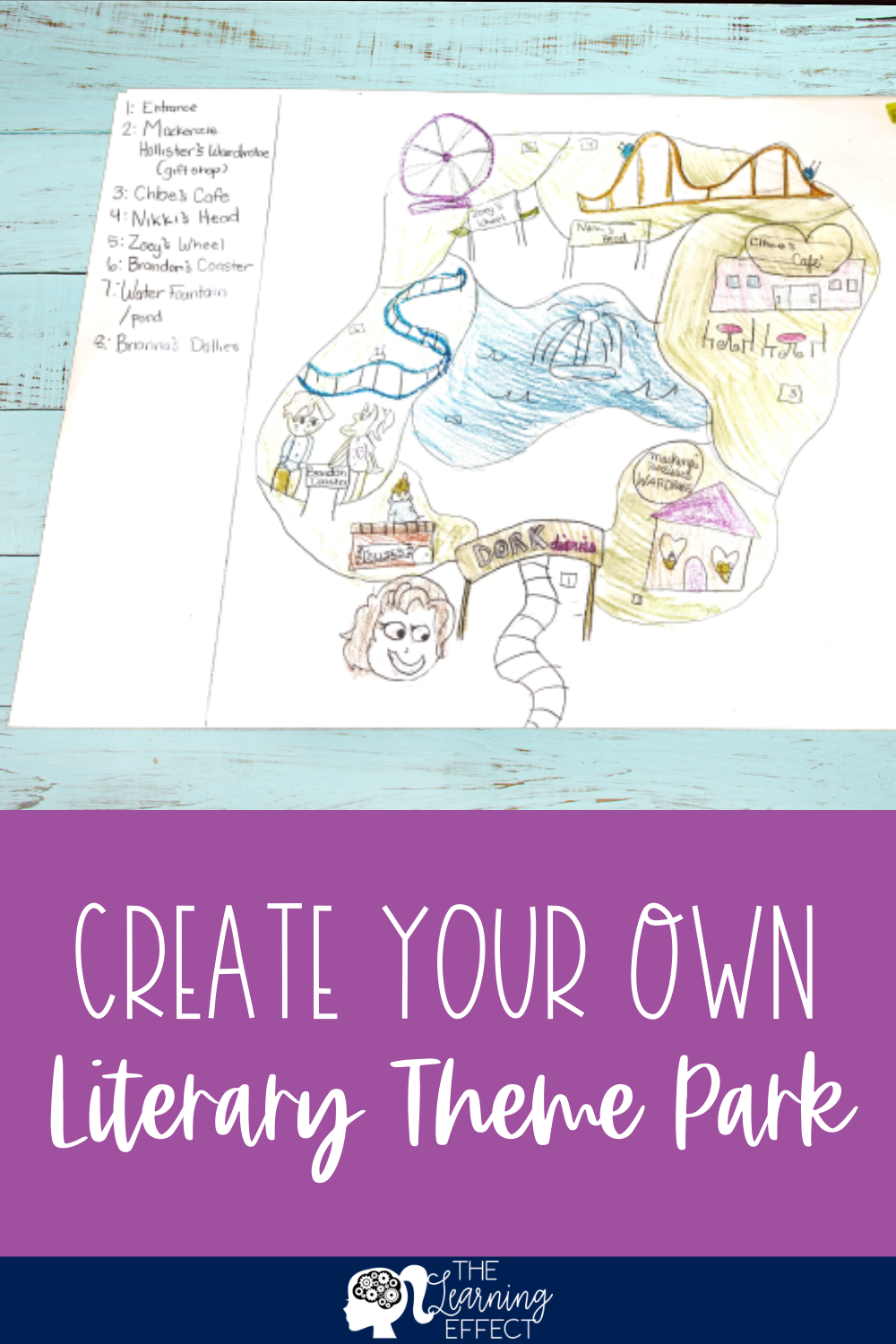 Create Your Own Literary Theme Park Book Project Literary Themes Reading Projects Book Projects