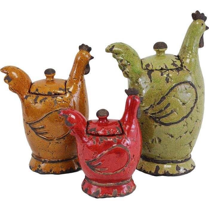 3 Piece Hen Jar Set I Usually Dont Like Chickenrooster
