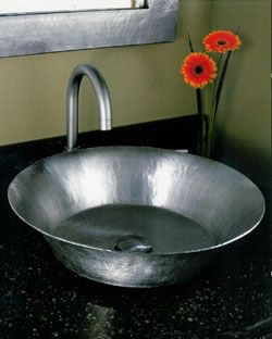 stainless flat sink