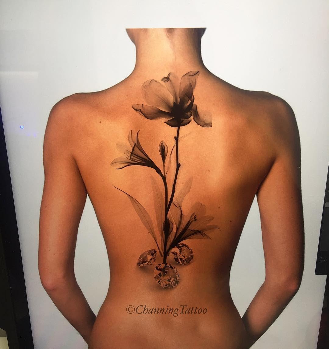 X Ray Flower Tattoo On The Left Inner Arm Tattoo Artist: Tattoos, Flower Tattoos, Spine Tattoos