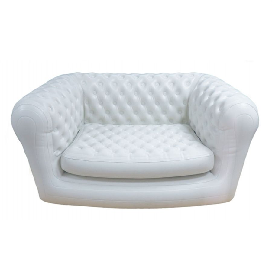 White chesterfield chair - Smart Air Beds Chestairfield 2 Person Inflatable Chesterfield Sofa White Sumo000025kw