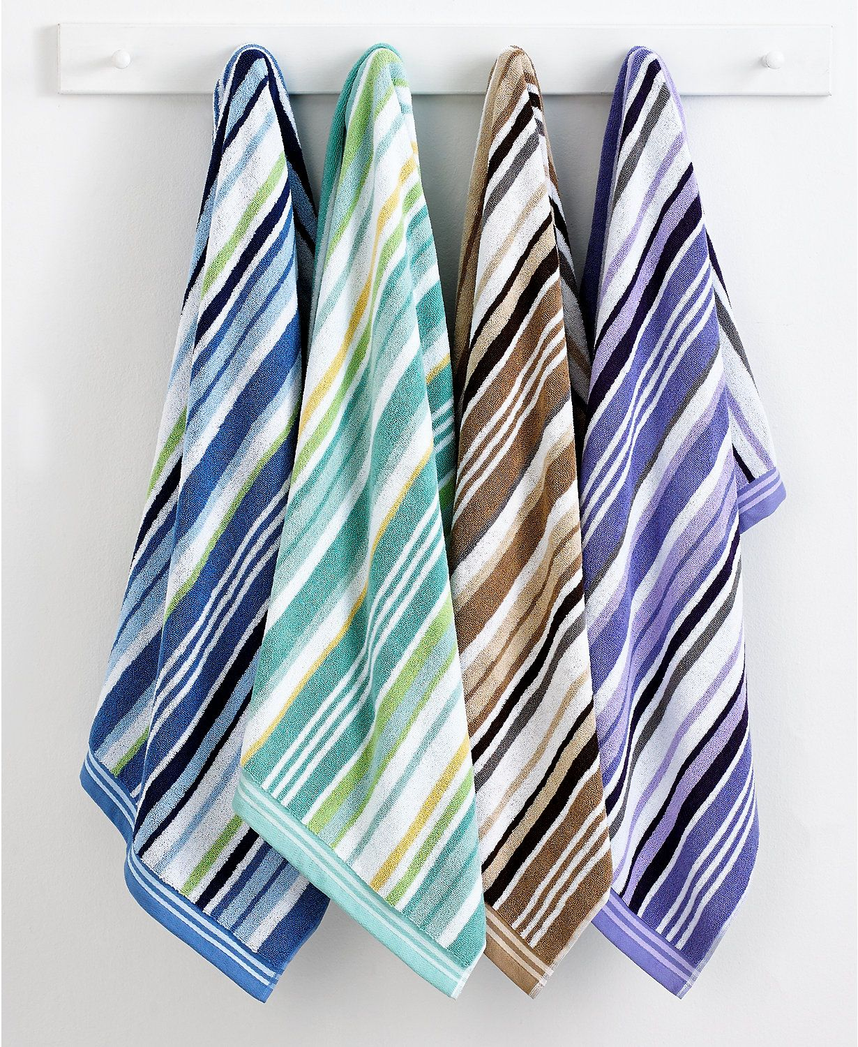 CLOSEOUT! Charter Club Excellence Stripe Bath Towel Collection ...