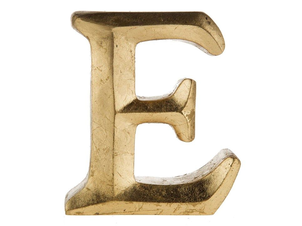 Gold Resin Letter E Shop Hobby Lobby Create Monogram Art Craft Store Gold Home Accessories