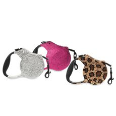 Furry Friends & Co™ Crystalized Retractable Dog Leashes