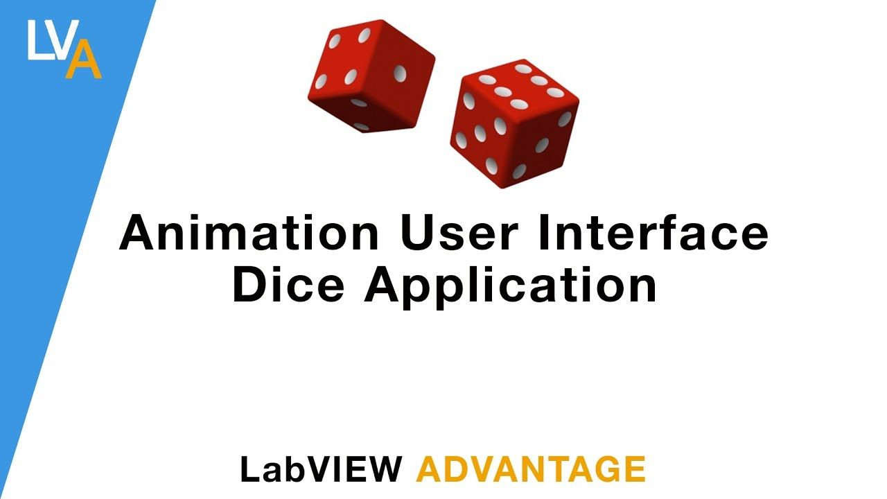 How to make animated Dice application using LabVIEW