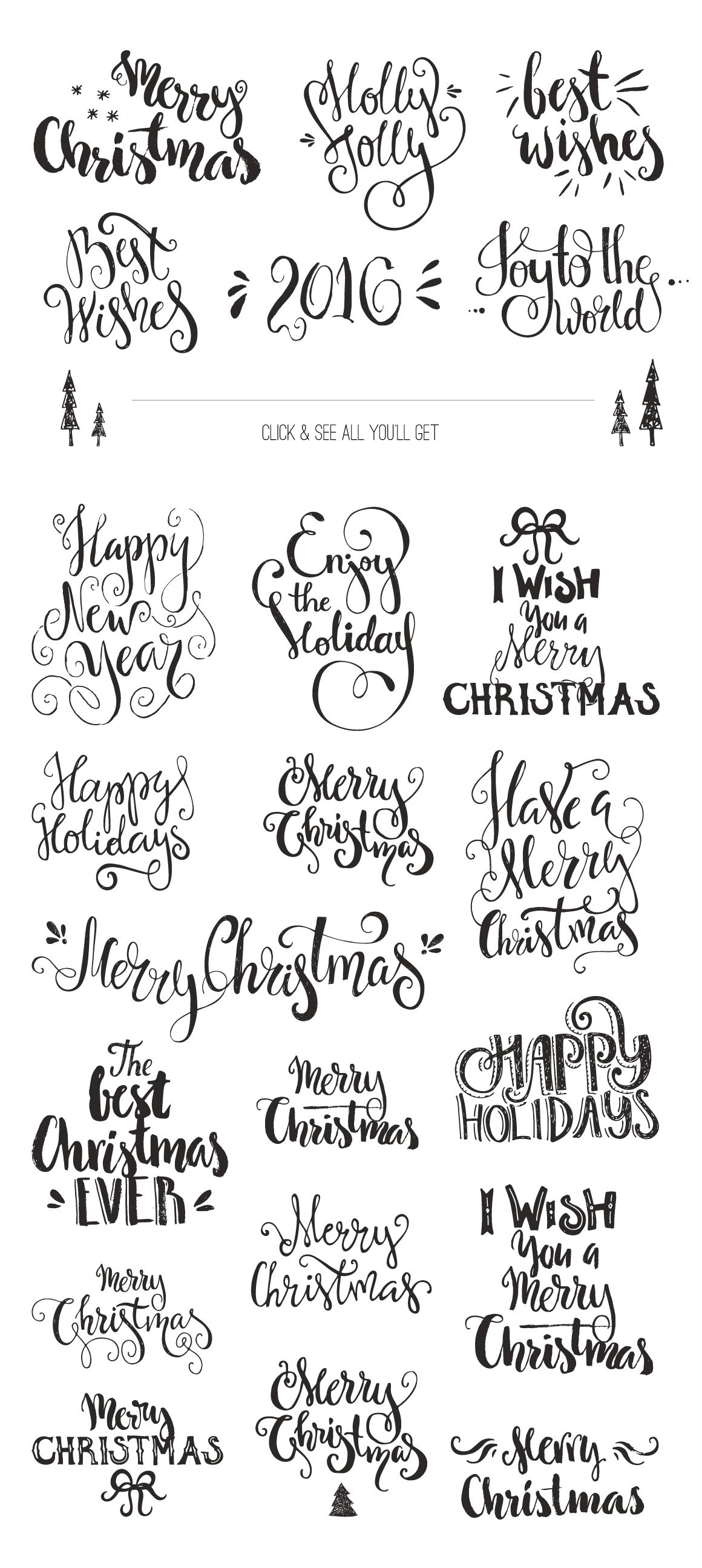 Handdrawn Christmas Photo Overlays by Favete Art on Creative Market ...