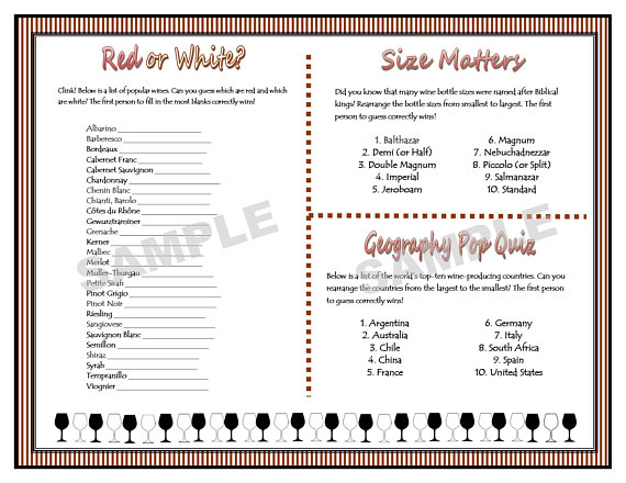 photograph relating to Wine Tasting Games Printable referred to as Wine-Tasting Printable Celebration Game titles - Females Evening Out