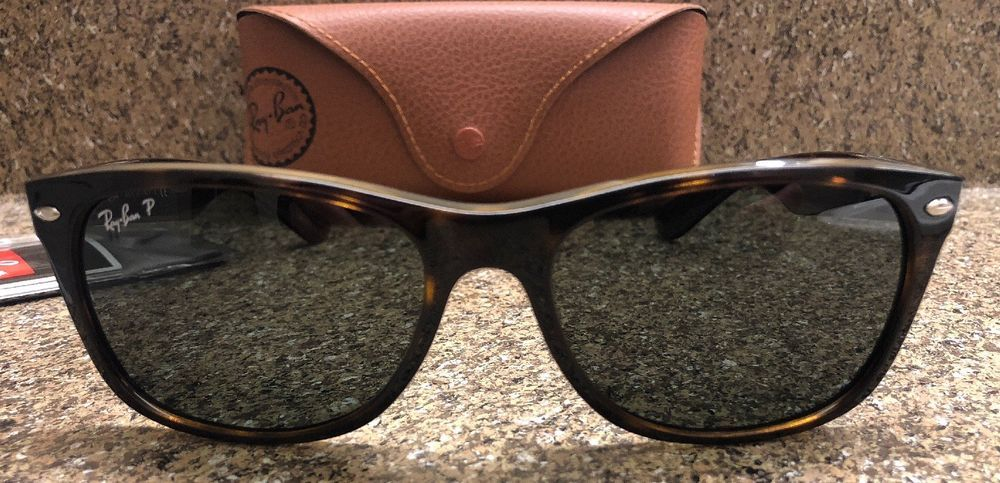 4d9102a667f New Ray-Ban RB2132 New Wayfarer 902 58 Tortoise Frame Green Classic ...