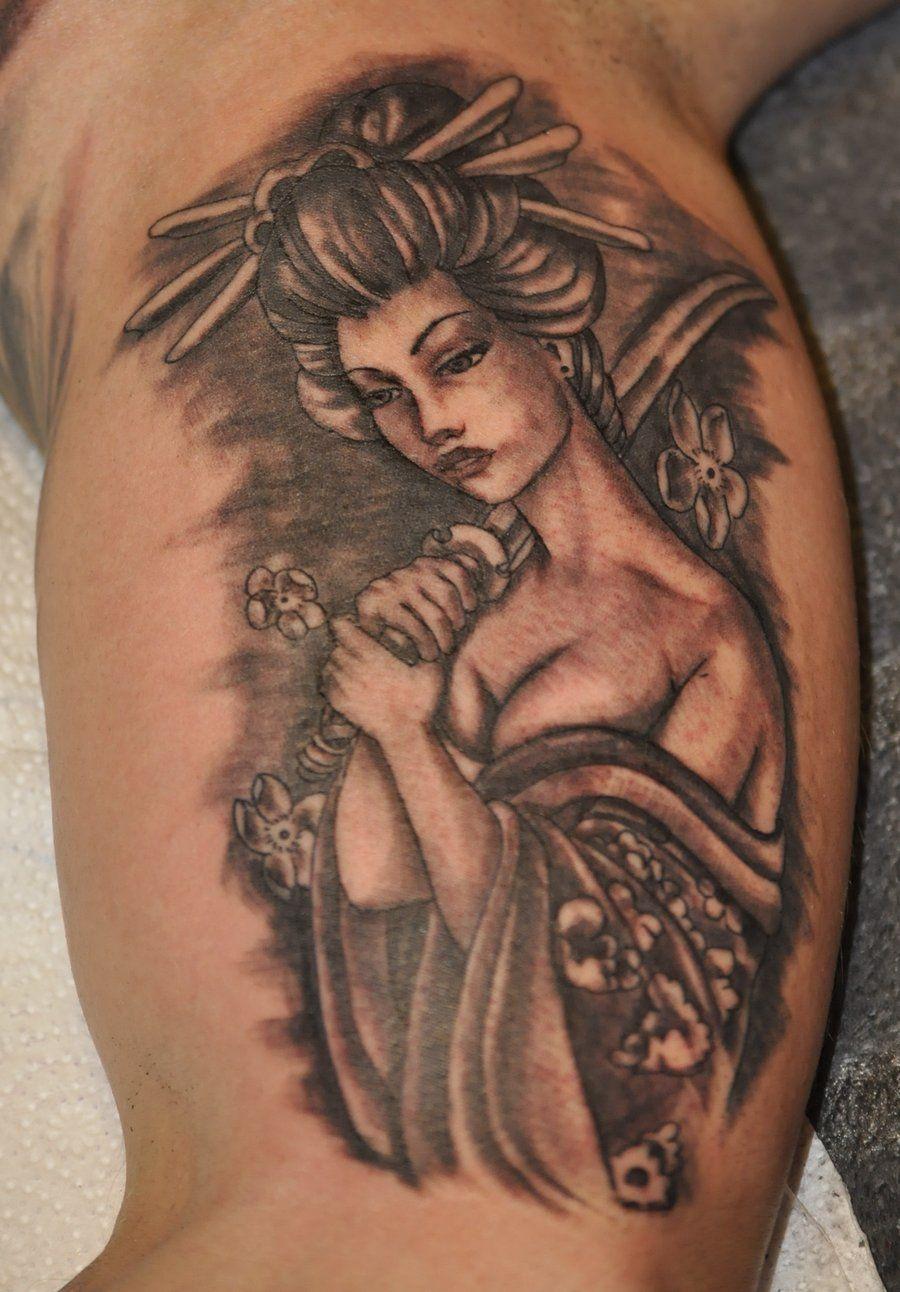 Geisha tattoo elegant geisha tattoo picture - Tattoo Check Out Beautiful Geisha