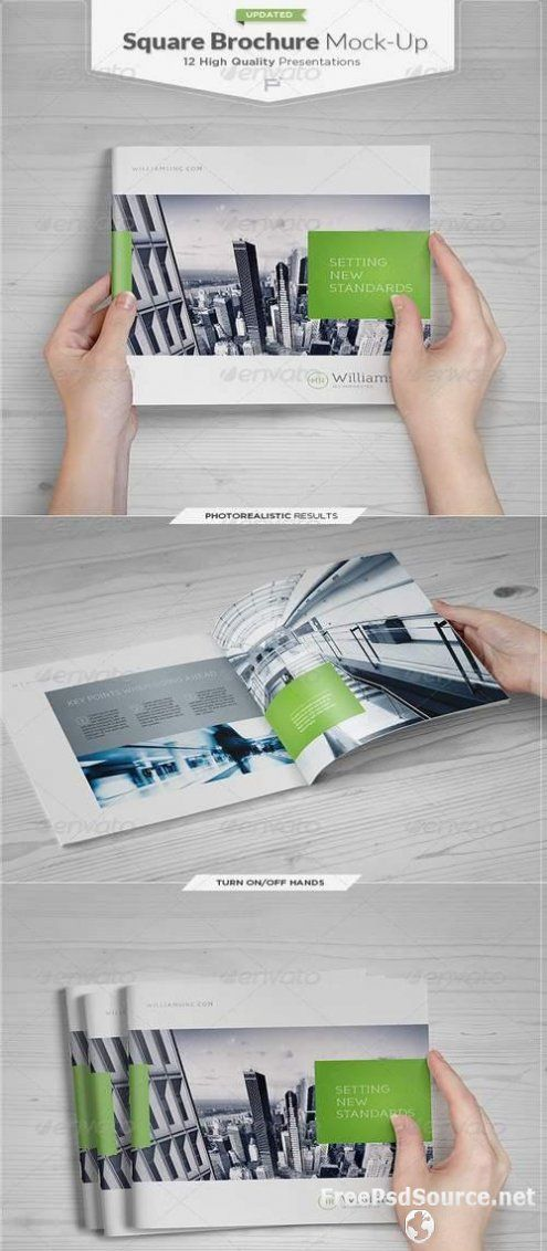 Square Brochure Catalog Mock Up Set 4476060 Graphicriver Free Download Psd