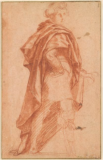 Andrea del Sarto | Standing Man Turned to the Right | Drawings Online | The Morgan Library & Museum