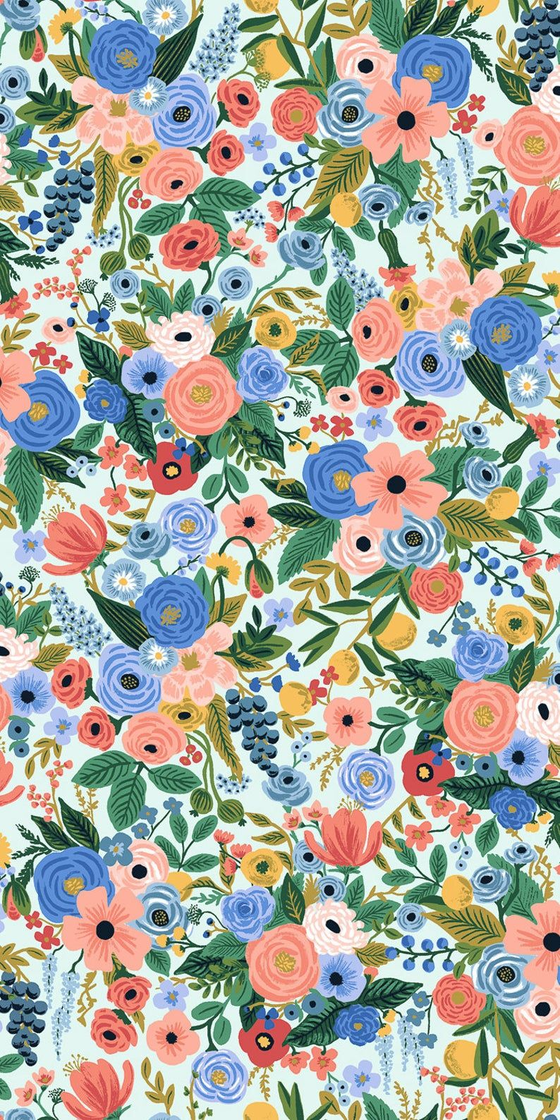 Petite Garden Party in blue by Rifle Paper Co