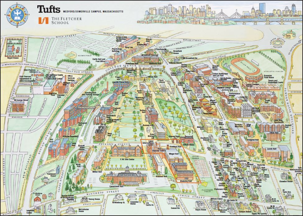Tufts Medford Campus Map.Tufts Medford Campus Map Boston Pinterest Career Resume And